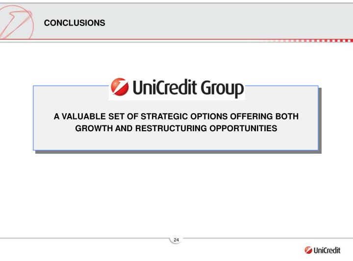 A VALUABLE SET OF STRATEGIC OPTIONS OFFERING BOTH GROWTH AND RESTRUCTURING OPPORTUNITIES