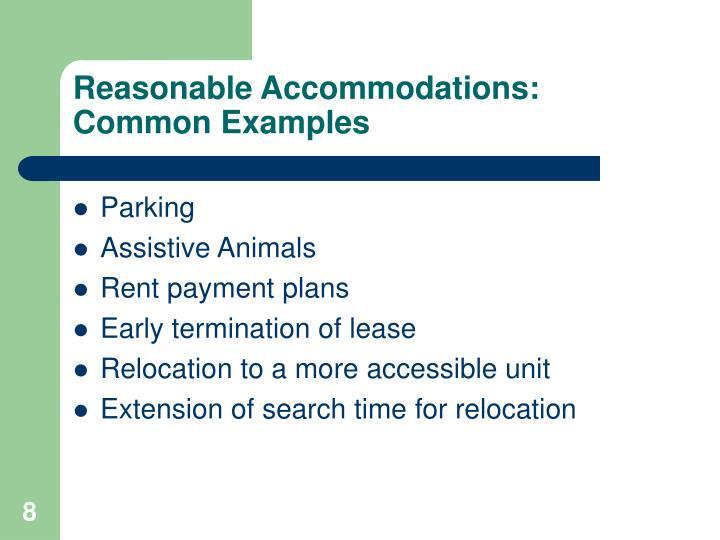 PPT - Reasonable Accommodations & Reasonable Modifications ...