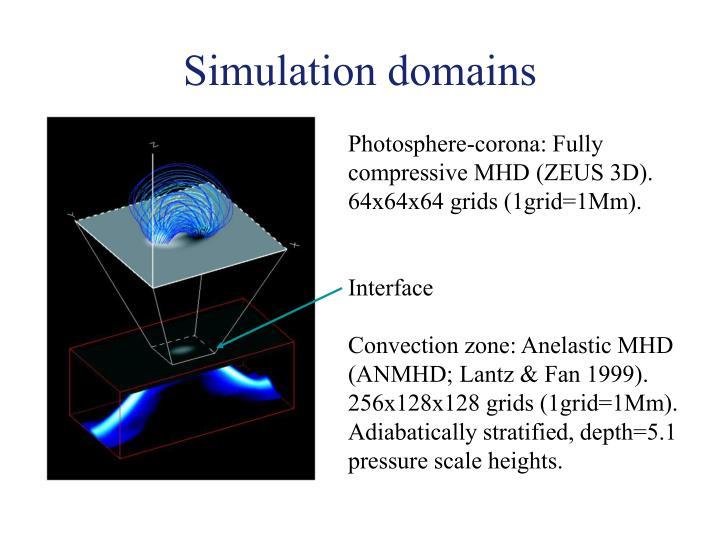 Simulation domains