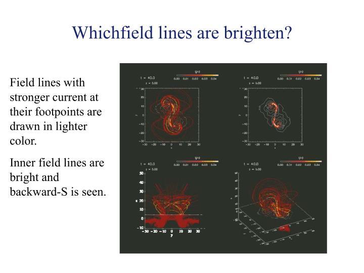 Whichfield lines are brighten?
