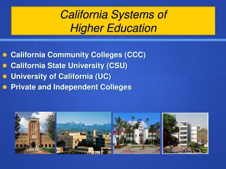 California systems of higher education