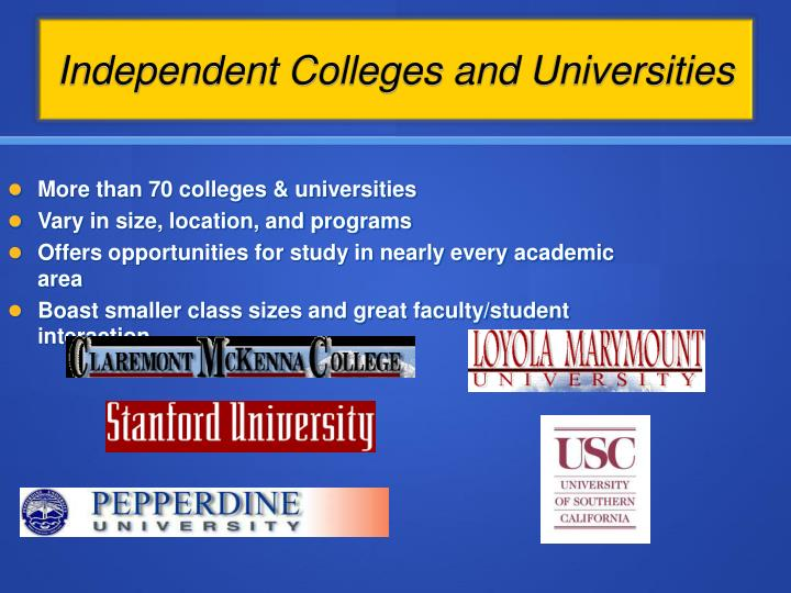 More than 70 colleges & universities