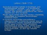 leibniz 1646 1716