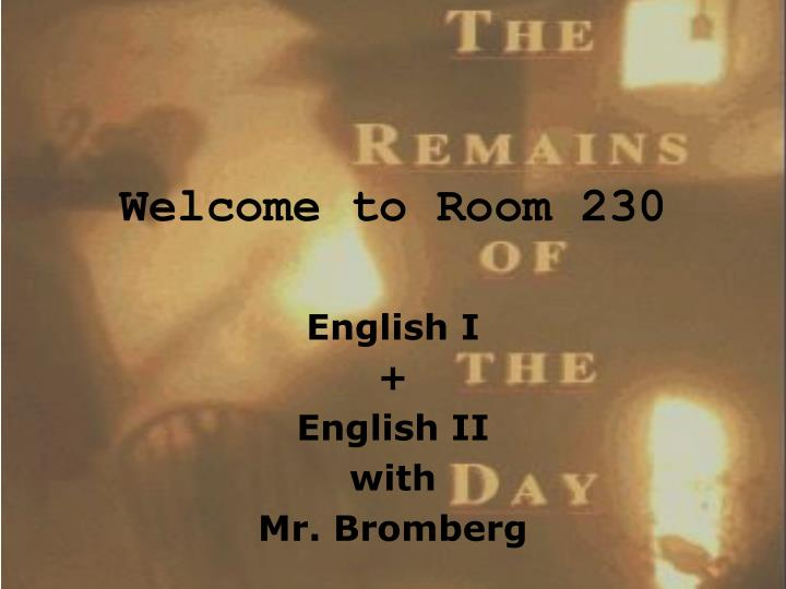 welcome to room 230 n.