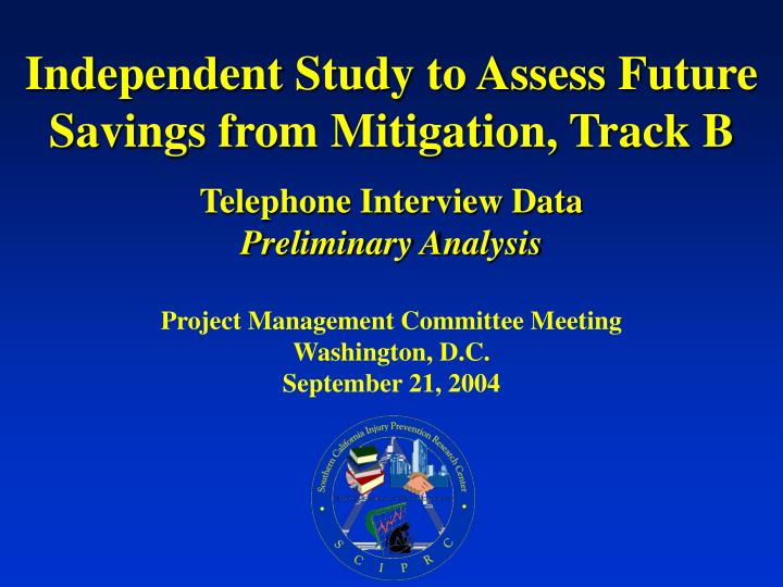 Project management committee meeting washington d c september 21 2004