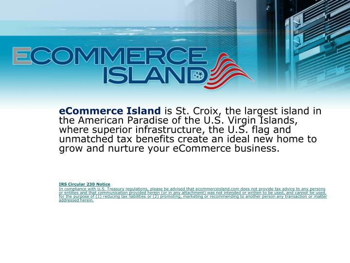 PPT - St  Croix's eCommerce infrastructure is unmatched