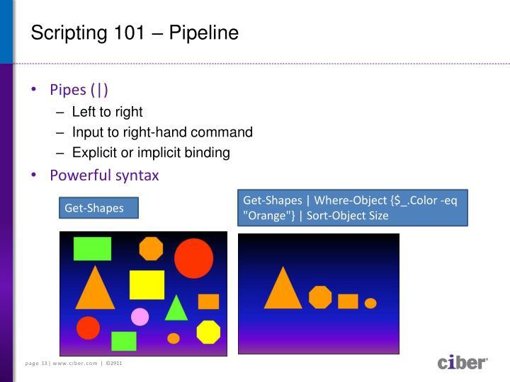 Scripting 101 – Pipeline