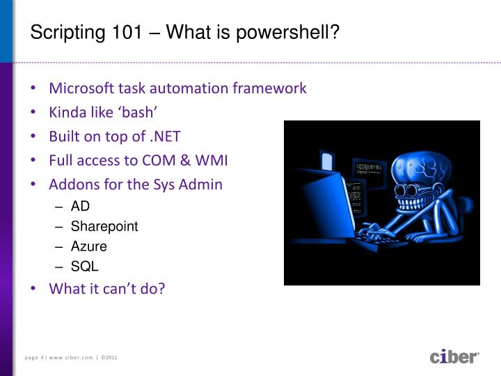 Scripting 101 what is powershell