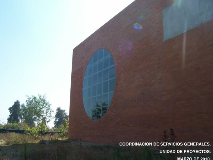 COORDINACION DE SERVICIOS GENERALES.