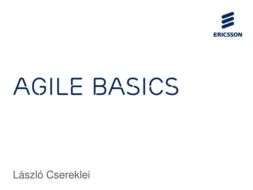 Agile Basics ppt - agile basics powerpoint presentation, free download