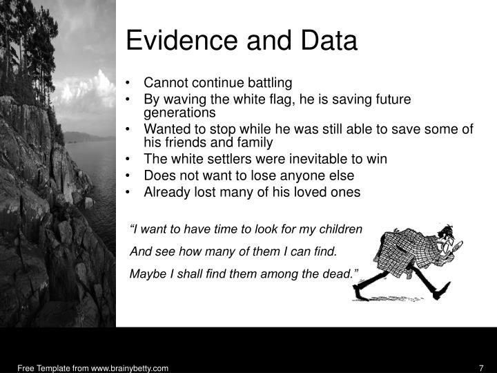 Evidence and Data