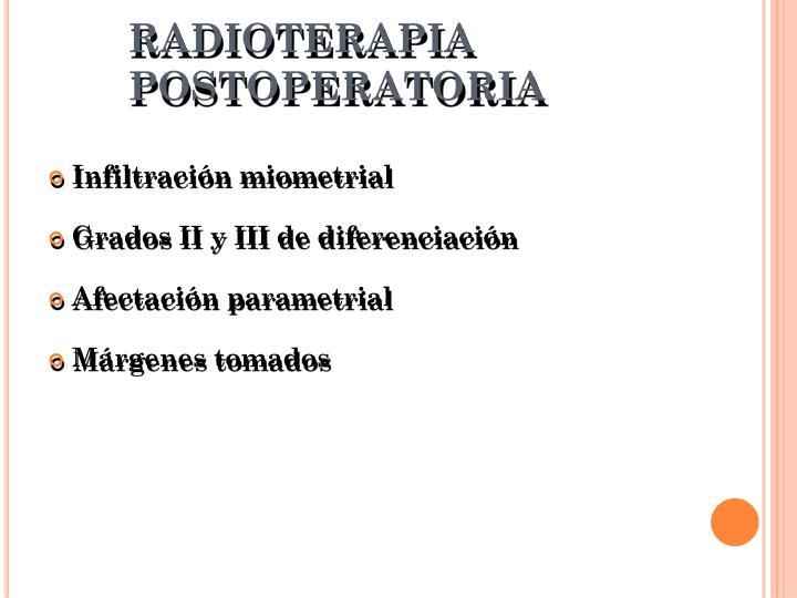 RADIOTERAPIA POSTOPERATORIA