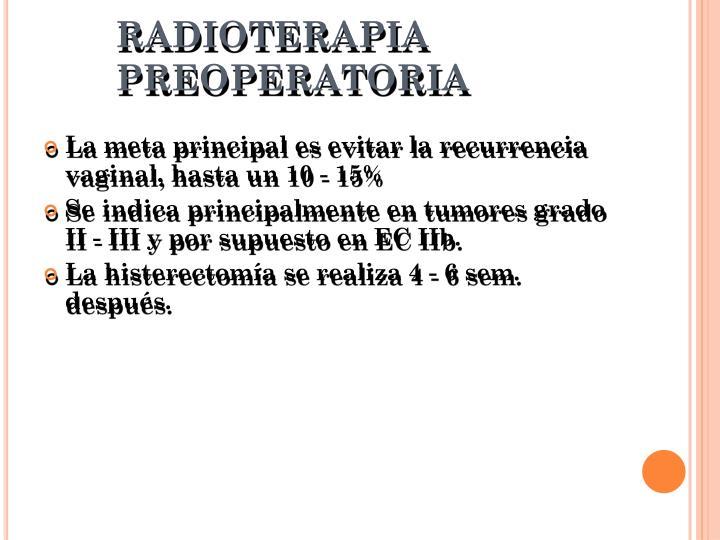 RADIOTERAPIA PREOPERATORIA