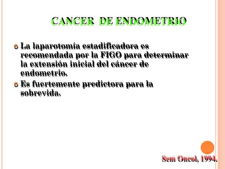 CANCER  DE ENDOMETRIO