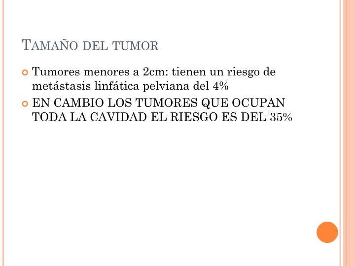 Tamaño del tumor