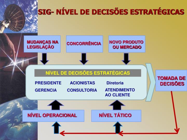 SIG- NÍVEL DE DECISÕES ESTRATÉGICAS
