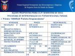 a es propostas para o 2 semestre de 20111