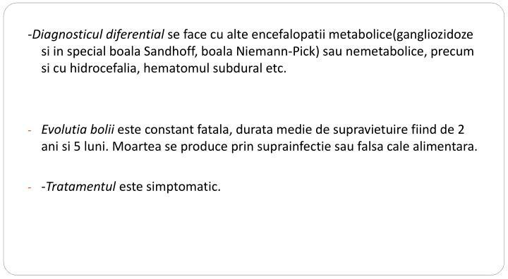 -Diagnosticul diferential