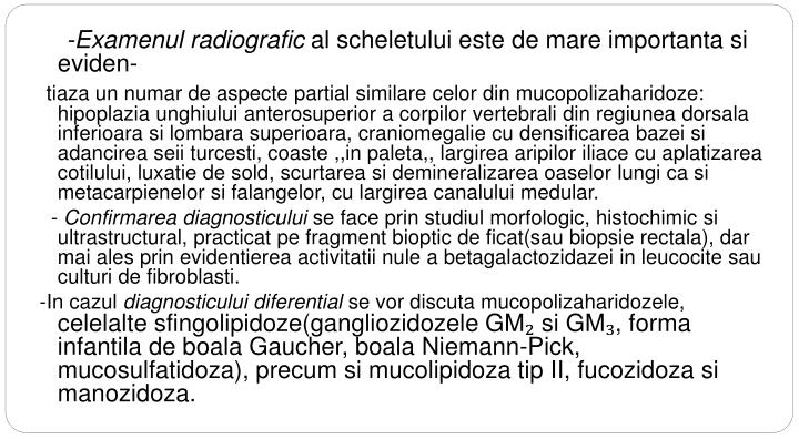 -Examenul radiografic