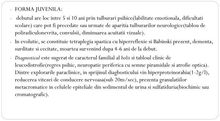 FORMA JUVENILA: