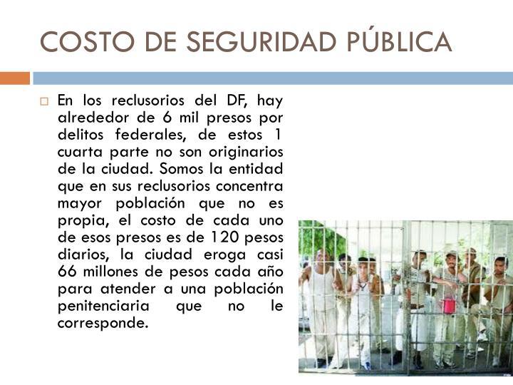 COSTO DE SEGURIDAD P
