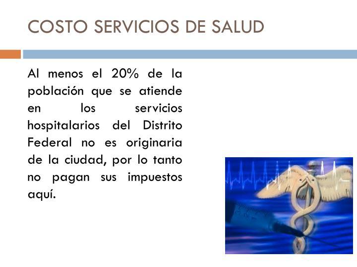 COSTO SERVICIOS DE SALUD