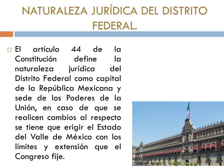 Naturaleza jur dica del distrito federal
