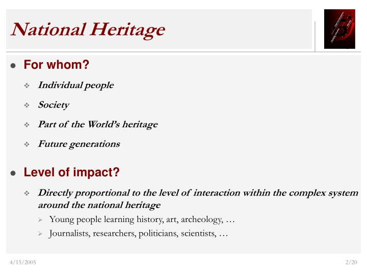 National heritage