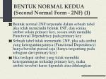 bentuk normal kedua second normal form 2nf 1