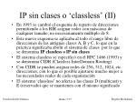 ip sin clases o classless ii