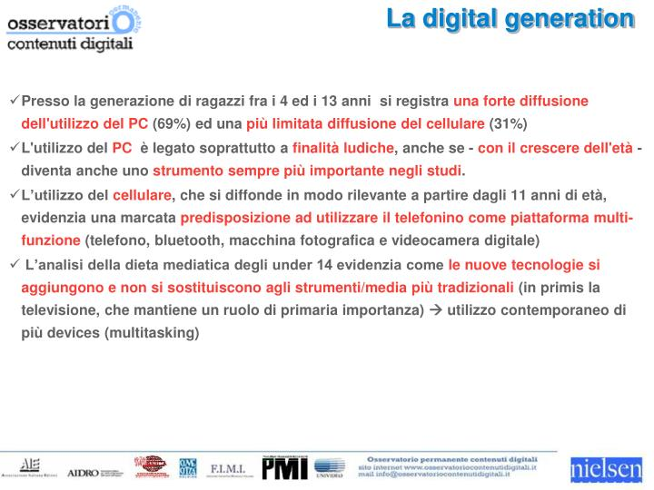 La digital generation