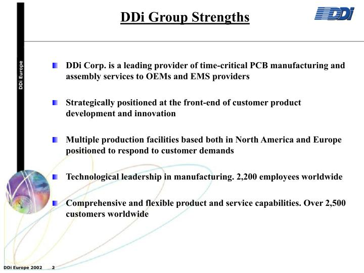 PPT - DDi Group Strengths PowerPoint Presentation - ID:4103050
