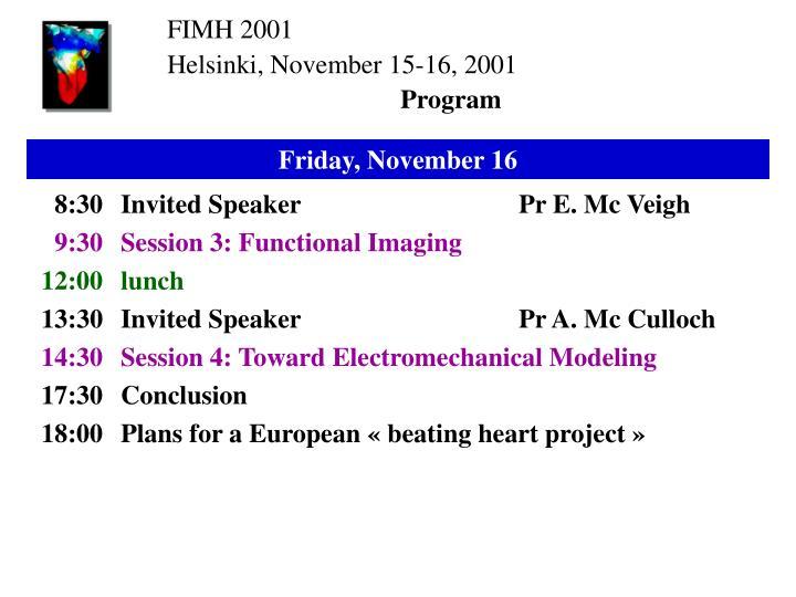 FIMH 2001