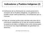 indicadores y pueblos indigenas 2