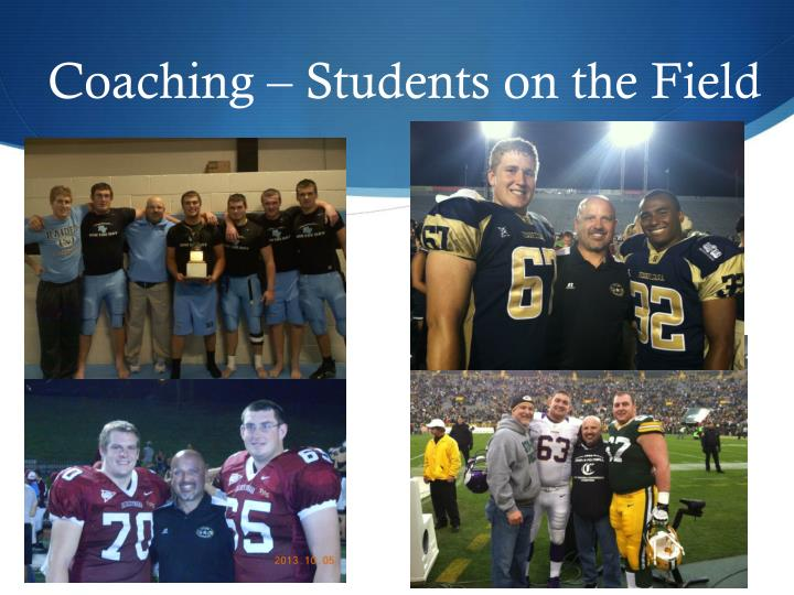 Coaching – Students on the Field