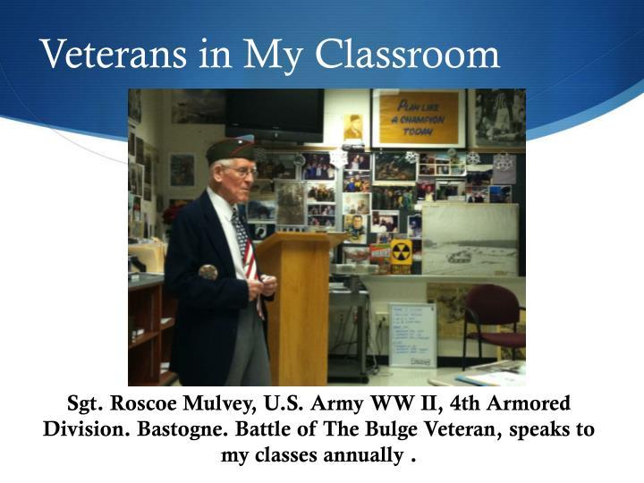 Veterans in My Classroom