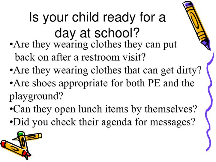 Is your child ready for a day at school?
