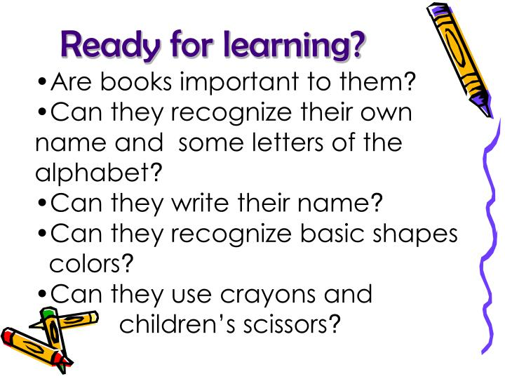 Ready for learning?