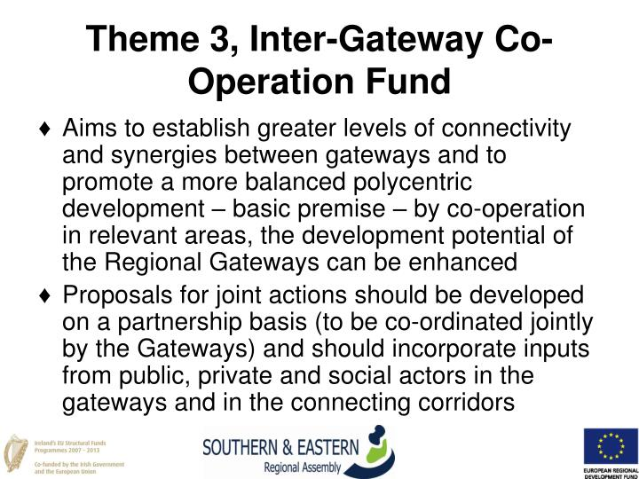 Theme 3, Inter-Gateway Co-Operation Fund