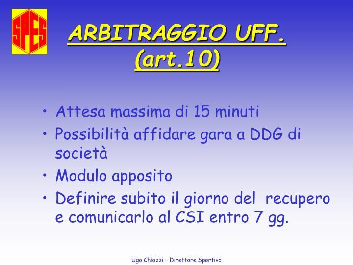 ARBITRAGGIO UFF.
