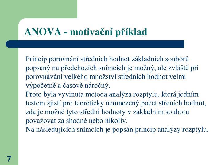ANOVA - motivační příklad