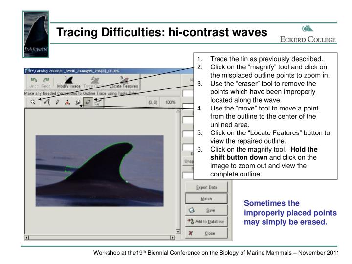 Tracing Difficulties: hi-contrast waves