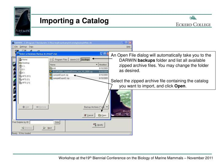 Importing a Catalog