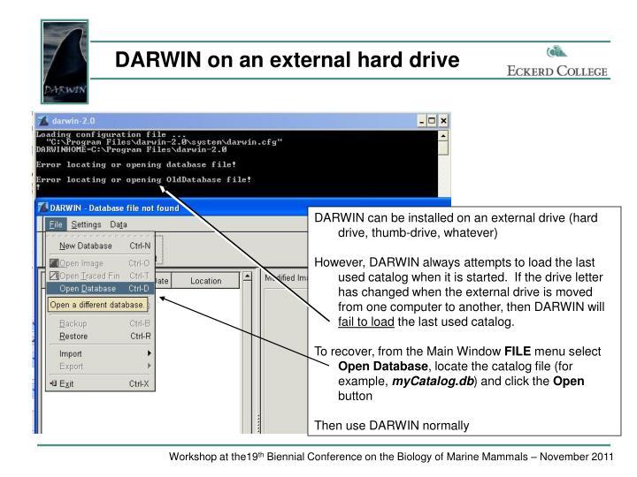 DARWIN on an external hard drive