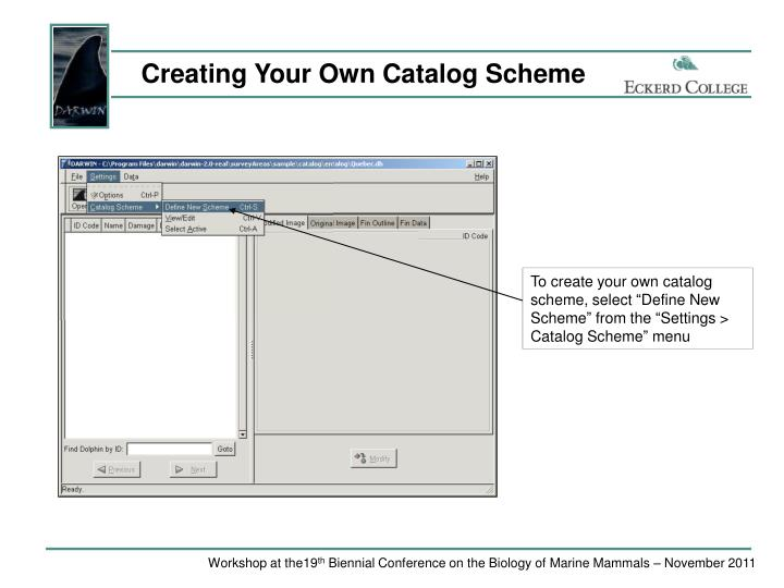 Creating Your Own Catalog Scheme