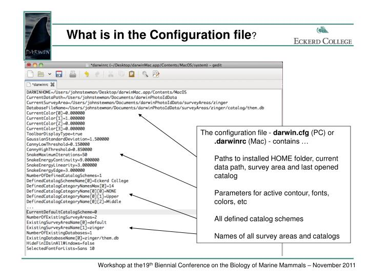 What is in the Configuration file