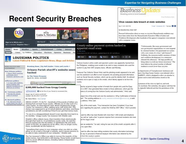 Recent Security Breaches