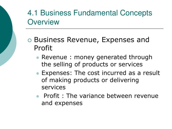 4 1 business fundamental concepts overview1