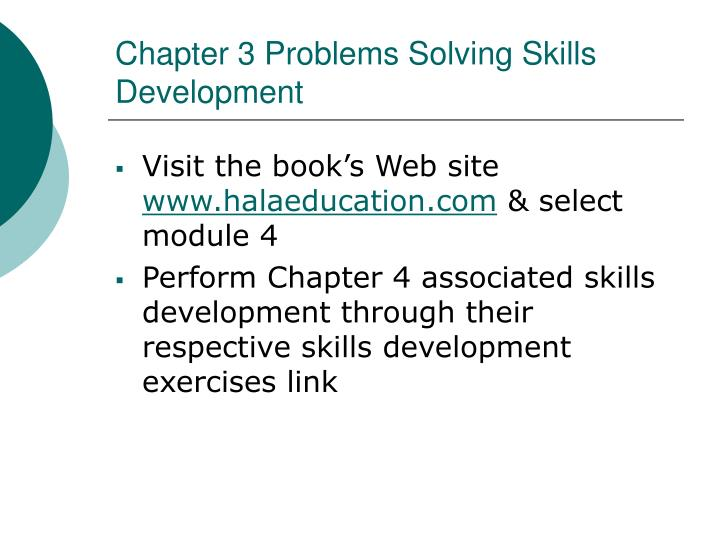 Chapter 3 Problems Solving Skills Development