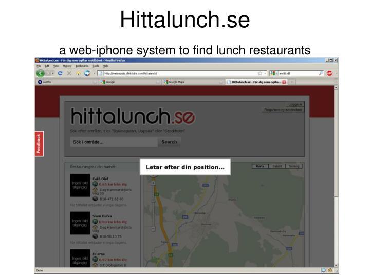 Hittalunch.se
